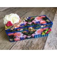 Flowery Decoupage bangle Box