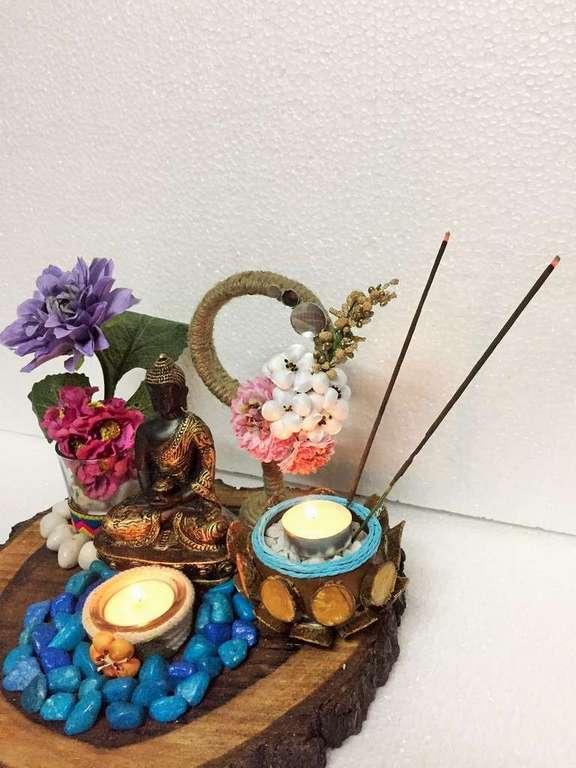 lord buddha gautam budha hand made festive tea lights for diwali hitchki dot in 0001