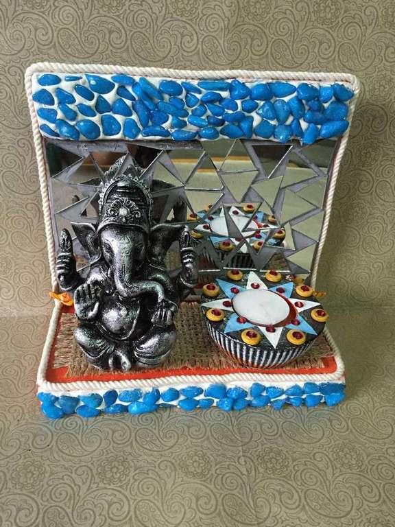 lord ganesha hand made festive tea lights for diwali hitchki dot in 0002