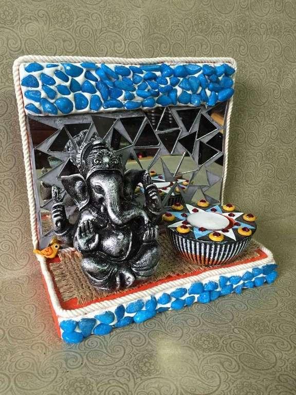 lord ganesha hand made festive tea lights for diwali hitchki dot in 0003
