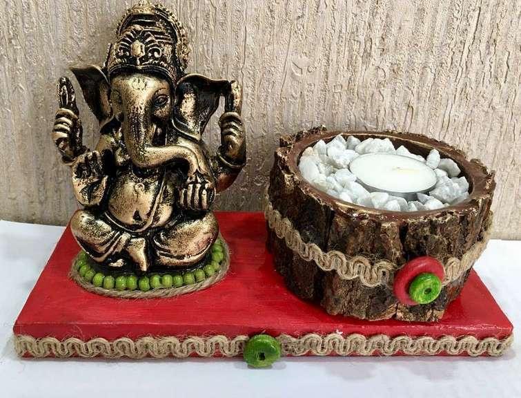 lord ganesha hand made festive tea lights for diwali hitchki dot in 0010