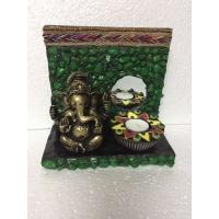 Green Stones Ganesha Tea Light