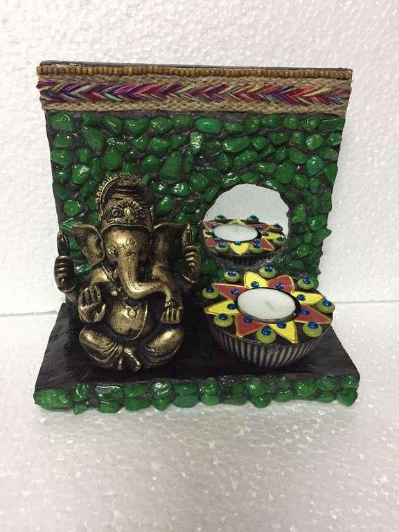 lord ganesha hand made festive tea lights for diwali hitchki dot in 0011