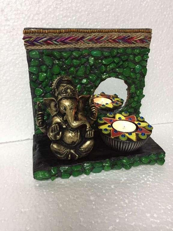 lord ganesha hand made festive tea lights for diwali hitchki dot in 0012