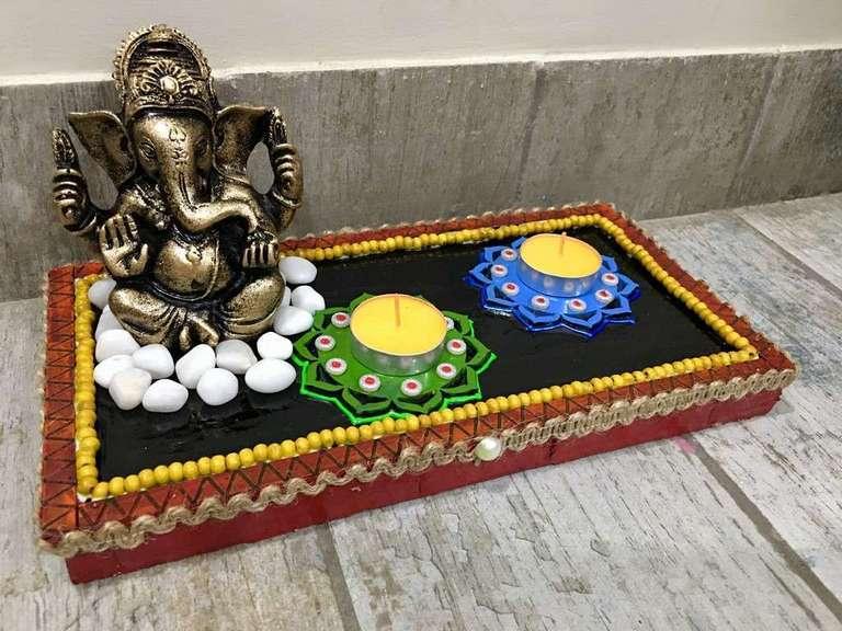 lord ganesha hand made festive tea lights for diwali hitchki dot in 0016
