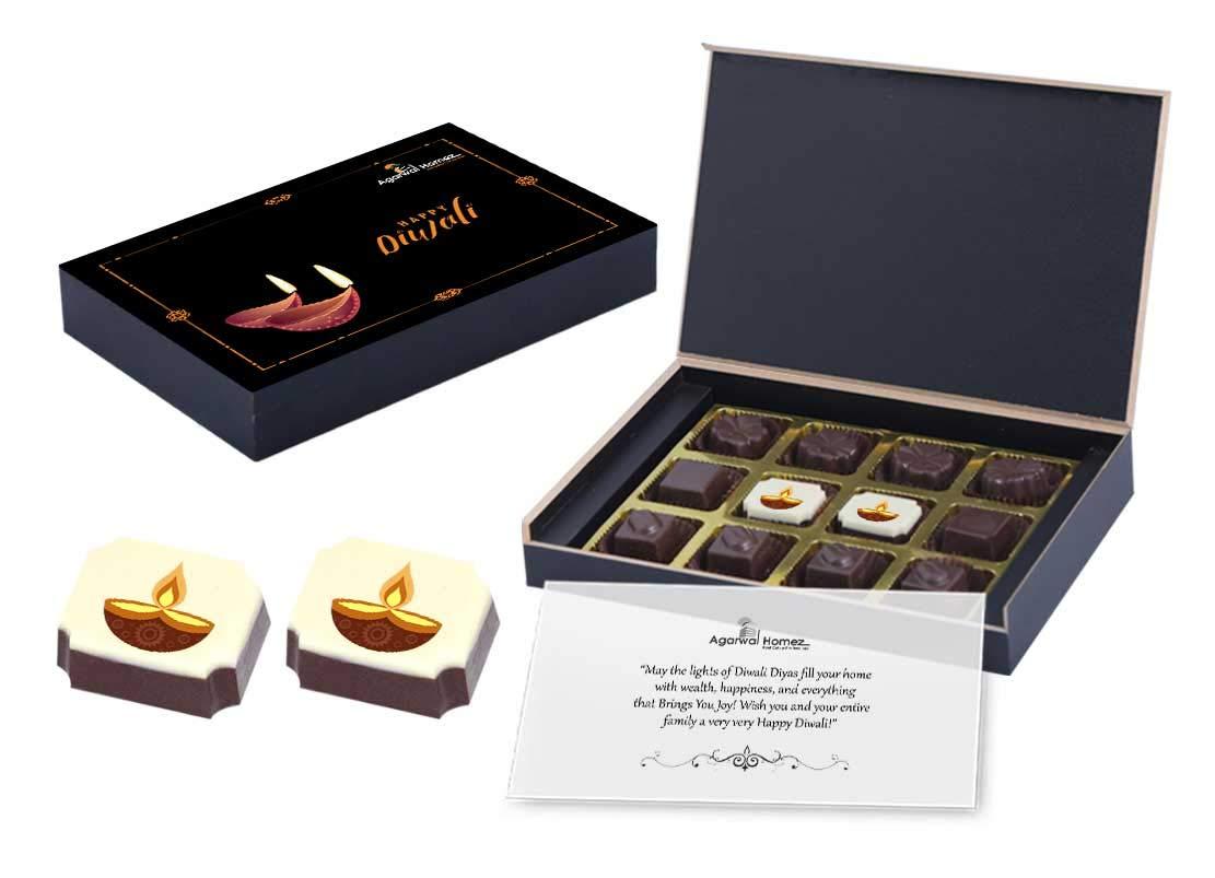 Diwali Festival Chocolate Gift Wooden Box