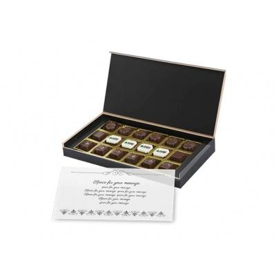 Personalized Chocolate Gift Box 18 Pcs Diwali Festival Chocolate Gift Wooden Box