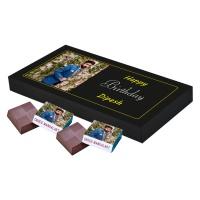 Printed Photo on Chocolate Gift Box (18 Pcs)