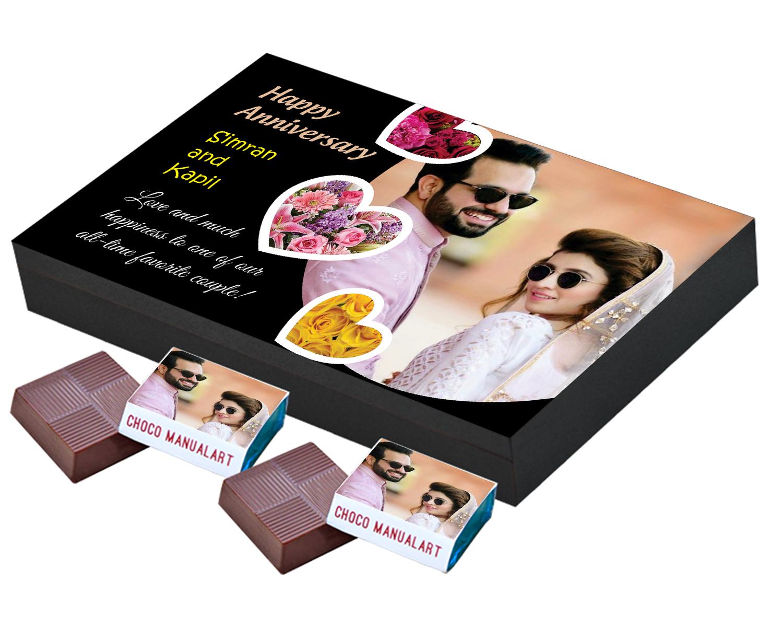 Personalized Wedding Anniversary Chocolate Gift