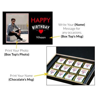 Handmade Chocolate Birthday Gift Boxes 12 Pcs  9 Birthday Gift 12C