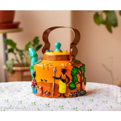 Creative Corner African Art Themed Kettle  African Art Themed Kettle 2