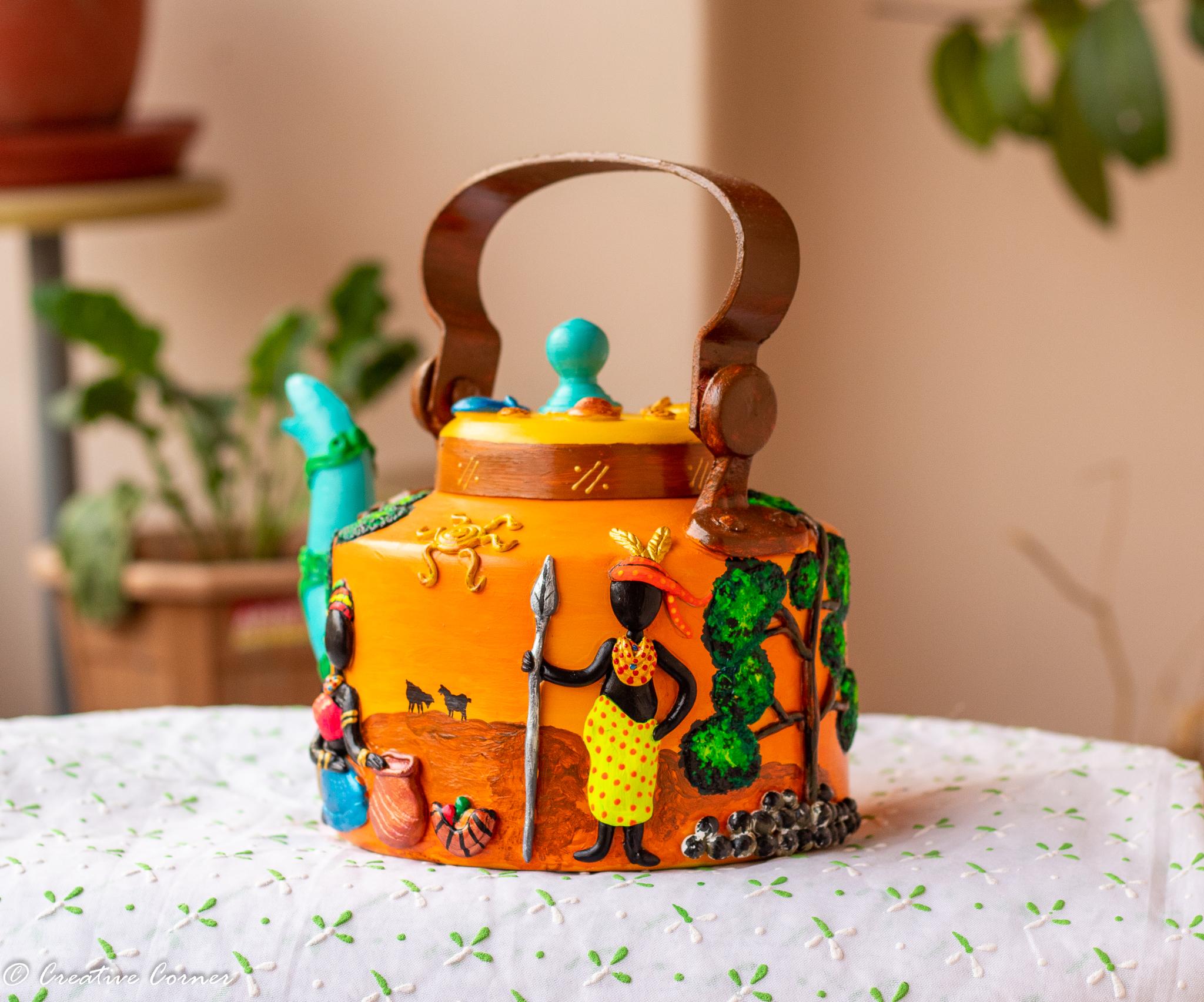 African Art Themed Kettle 2