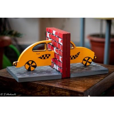 Creative Corner Car Shaped Wooden Book END  Car themed book end