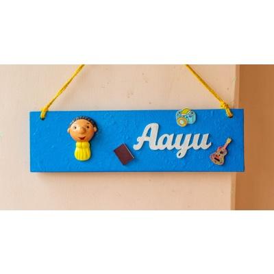 Cute handcrafted designer customized kids nameplate  Cute handcrafted designer customized kids nameplate