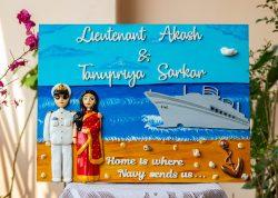 Housewarming Gifts Online In Delhi Engraved nameplate indian Navy nameplate