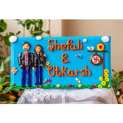 Customize Couple Themed Nameplate  Customize couple themed nameplate creative corner