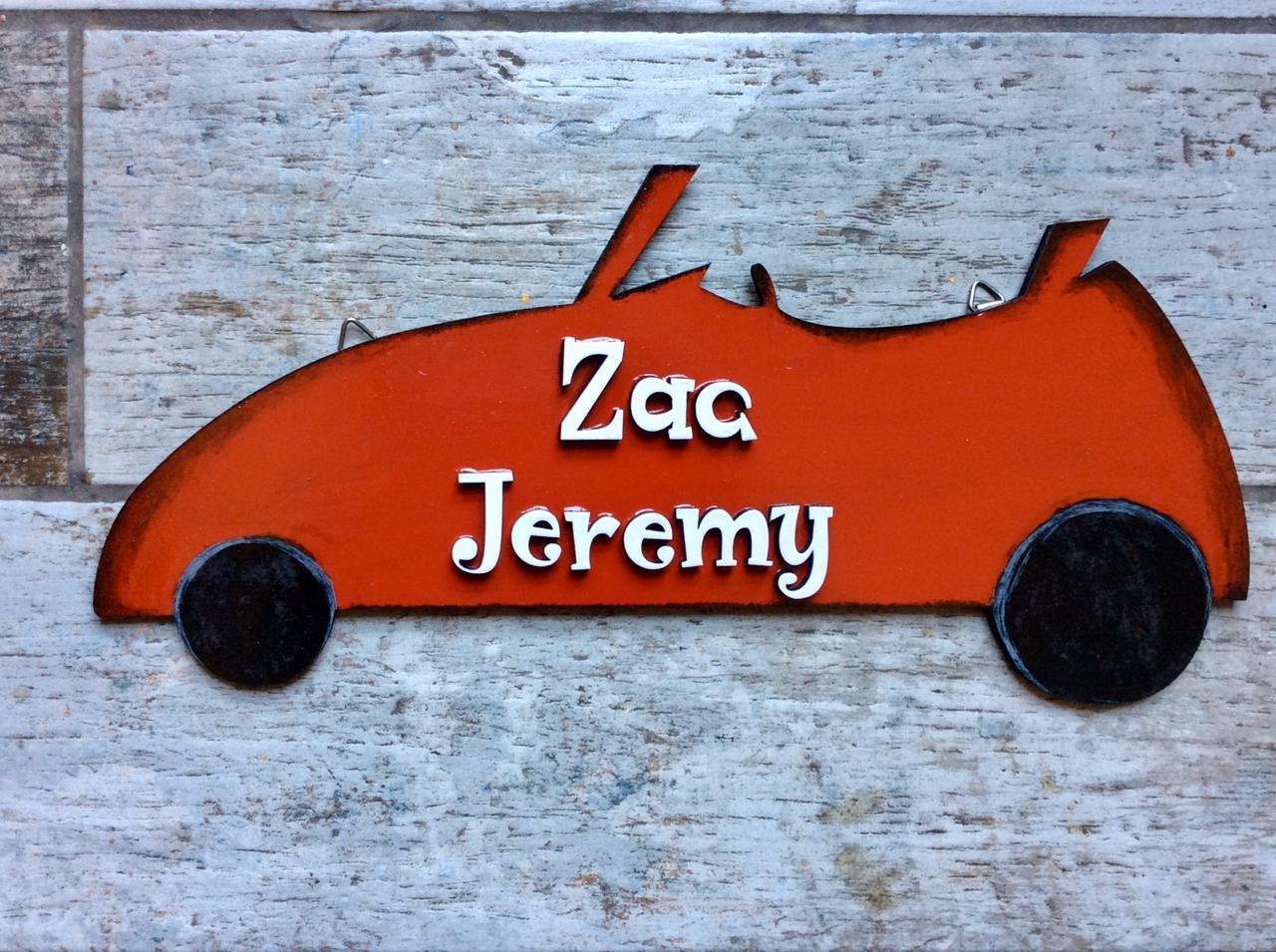 Open Car Boys Nameplate