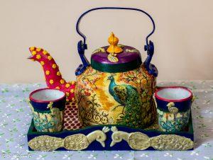 Creative Corner Peacock themed customized teapot set