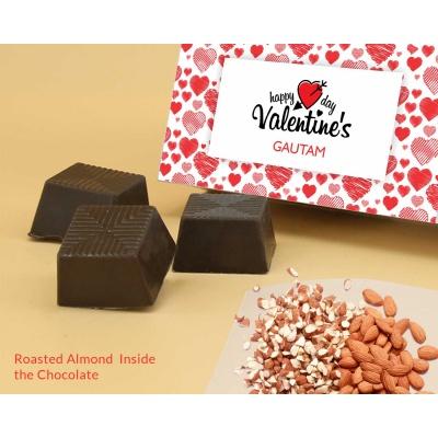 Roasted Almond Chocolates For Valentine 12Pcs  Valentaine Day 03RANP3
