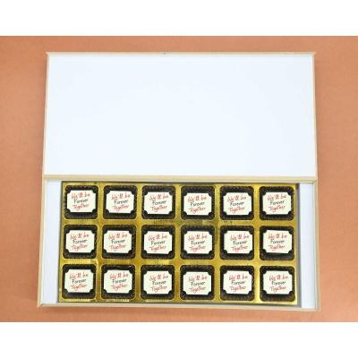 Customised Chocolates For Couple 18 Pcs  Valentaine Day 05RAP6