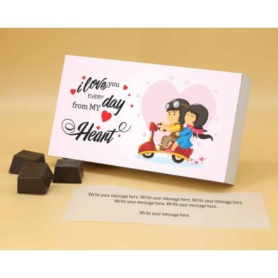 Customised Chocolates With Almonds 6Pcs  Valentaine Day 07RANPA