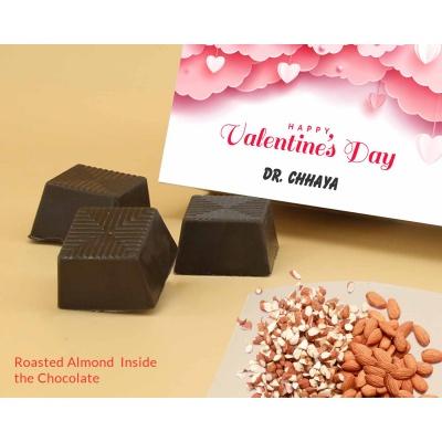 Personalised Valentine Gift   Almond Chocolates 18Pcs  Valentaine Day 08RANPC