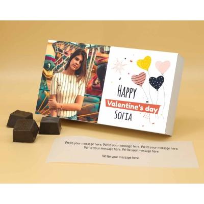 Photo Printed Chocolate Box With Almonds 12Pcs  Valentaine Day 09RANPA
