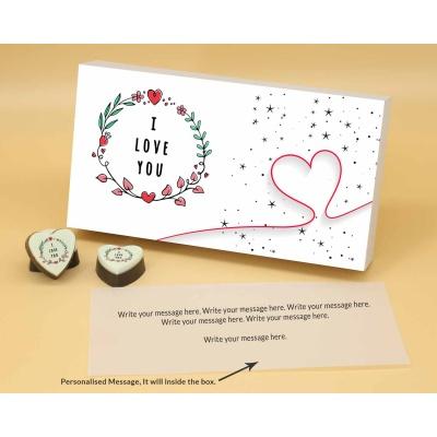 Heart Chocolates For Couple 12 Pcs  Valentaine Day 17HAPB