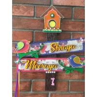 Name Plate for kids Room – Girls Sibbling