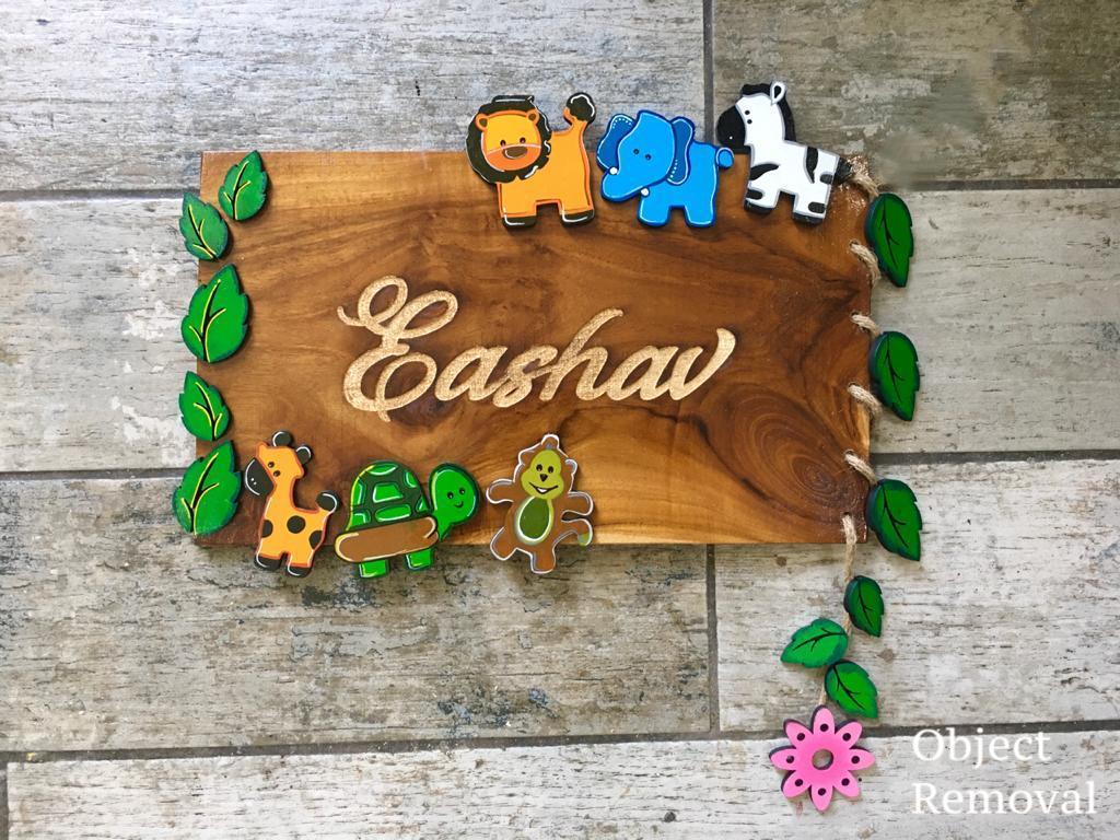 eshav kids birth capture wooden nameplate