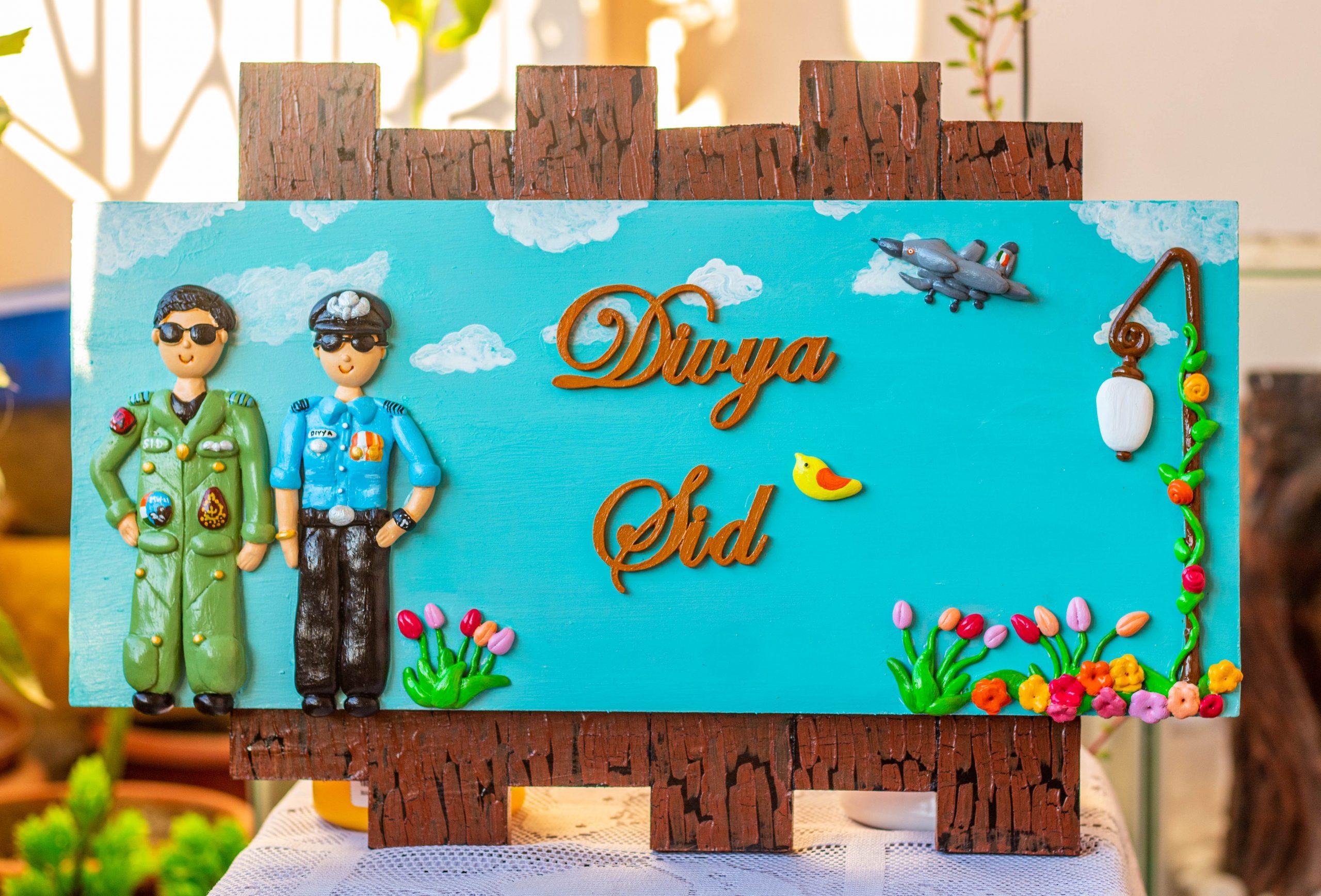 Buy best handmade online name plate designs for home