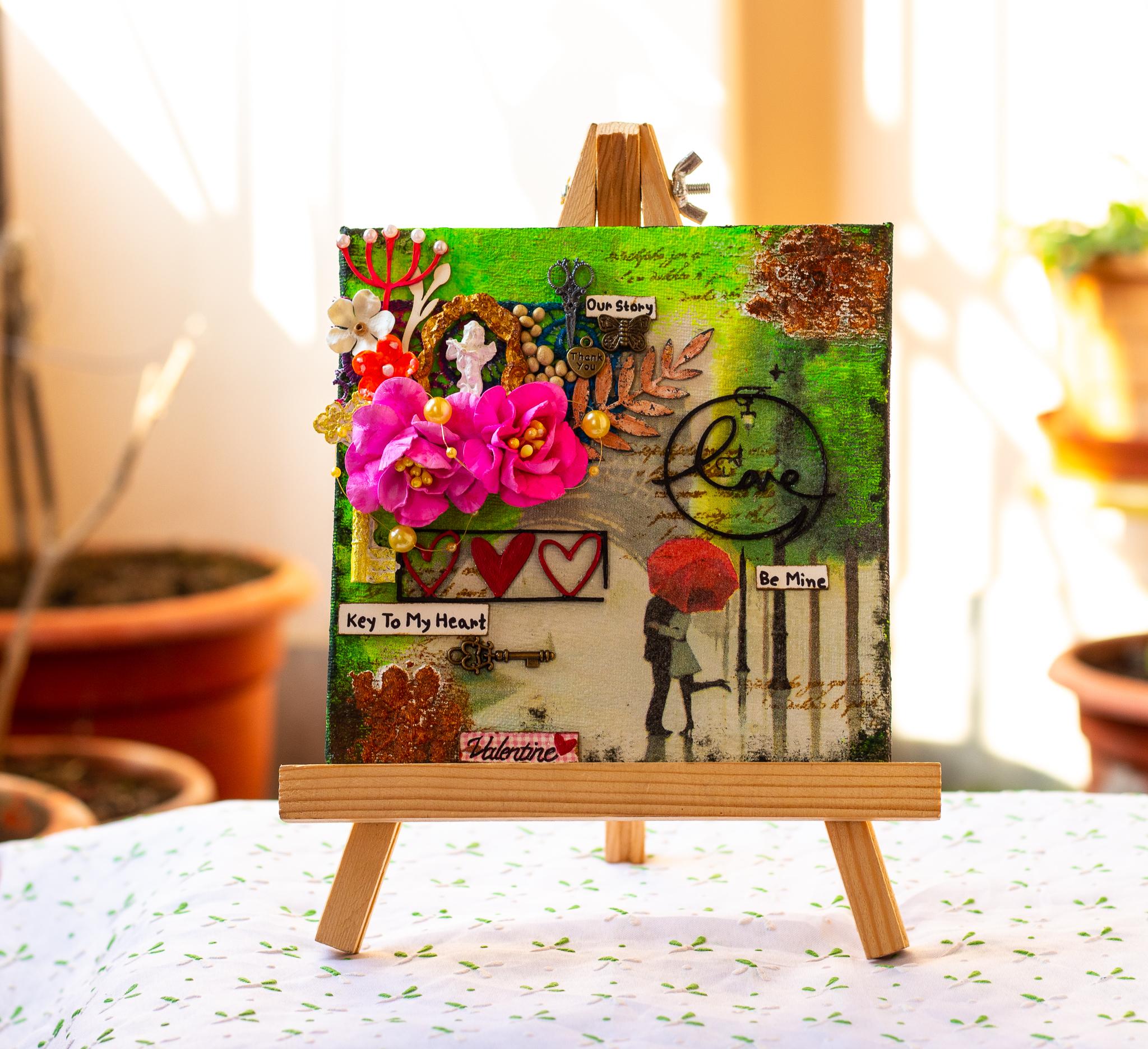 love themed canvas.