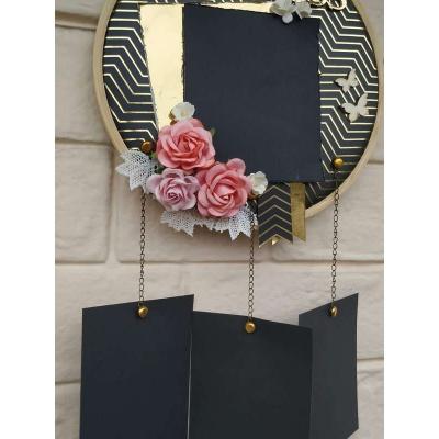 Black and Gold Memory Catcher The Pink Umbrella pink umbrella hitchki creative handmade gifts 10 0008