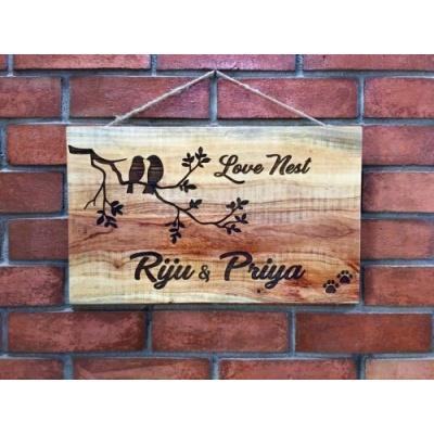Wooden Name Plates Maker for FlatsHouse Near Me Hitchki riju engraved nameplate