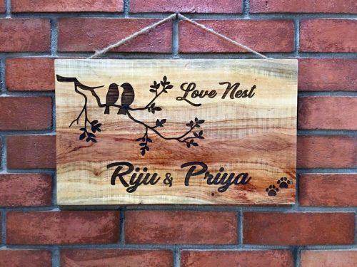 riju engraved nameplate