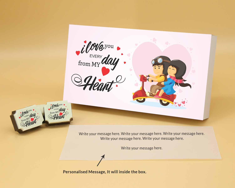 will you be my valentine chocolate gift